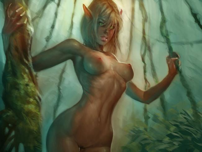 Картинки фэнтези эльфы эротика.